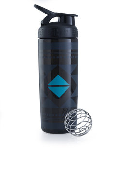 BlenderBottle™ SIGNATURE SLEEK Zwart Diamond Native met oog - Eiwitshaker/Bidon - 820 ml