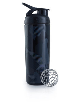 BlenderBottle™ SIGNATURE SLEEK Zwart Shattered Slate met oog - Eiwitshaker/Bidon - 820 ml