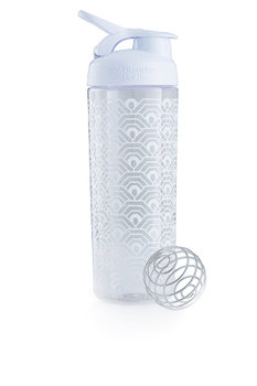 BlenderBottle™ SIGNATURE SLEEK Wit Clamshell met oog  - Eiwitshaker/Bidon - 820 ml