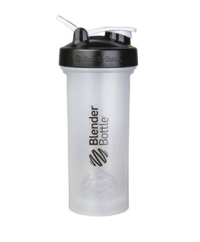 BlenderBottle™ PRO45 Transparant met zwarte opdruk met oog - Eiwitshaker/Bidon - 1,3 Liter