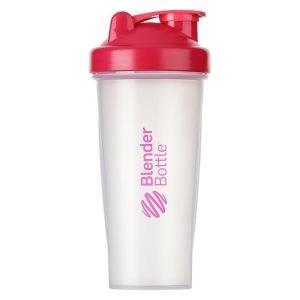 BlenderBottle™ CLASSIC Big Fashion Roze Transparant - Eiwitshaker / Bidon  - 820 ml