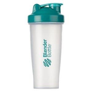 BlenderBottle™ CLASSIC Big Azuurblauw/Teal Transparant - Eiwitshaker / Bidon  - 820 ml