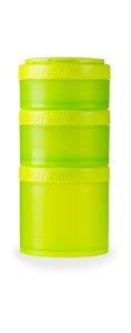 BlenderBottle™ EXPANSION PAK Groen - 3 Opbergbakjes voor Pro Stak - Full Colour - 100ml/150ml/250ml