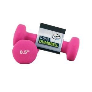 FitnessMAD™ - 0.5 KG Neoprene Dumbbells - Pink