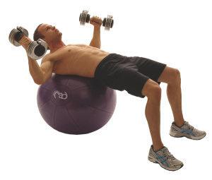 FitnessMAD™ - Fitnessbal -Balansbal en pomp - PVC - max 500 kg belastbaar- Diameter 65 cm- Paars
