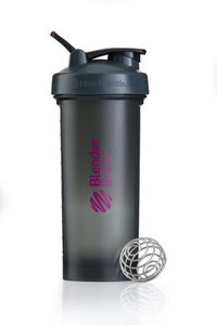 BlenderBottle™ PRO45 Zwart met roze opdruk en oog - Eiwitshaker/Bidon - 1,3 Liter