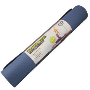FitnessMAD™ - Evolution Yoga Mat - Geen Phthalaat - Latexvrij - Dikte 4mm - Blauw/Grijs