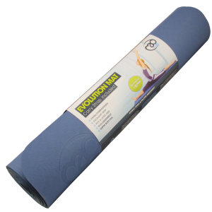 FitnessMAD™ - Evolution Yoga Mat Plus - Geen Phthalaat - Latexvrij - Dikte 6mm - Blauw/Grijs