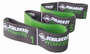 Schildkrot™ Fitness Weerstandsband - Elastische Trainingsband - Groen/Antraciet