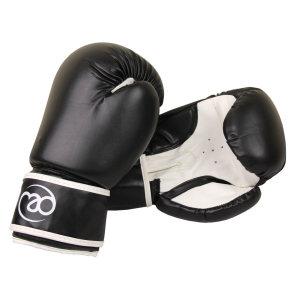FitnessMAD™ - Bokshandschoen - Kunstleder - Paar- 12 oz - Zwart/Wit