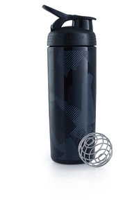 BlenderBottle™ SIGNATURE SLEEK Zwart Shattered Slate met oog - Eiwitshaker/Bidon - 820 ml