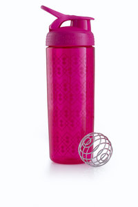 BlenderBottle™ SIGNATURE SLEEK Roze Geo Lace met oog - Eiwitshaker/Bidon - 820 ml