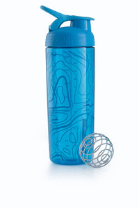 BlenderBottle™ SIGNATURE SLEEK Aqua Topt Flow met oog - Eiwitshaker/Bidon - 820 ml