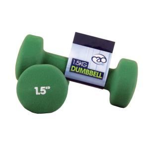 FitnessMAD™ - Dumbbells - 1,5Kg - Neopreen  - Groen