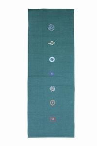 FitnessMAD™ - 100% katoen Yoga deken - vloerkleed. Met 7 Chakras motief