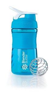 BlenderBottle™ SPORTMIXER Small Aqua met oog - Eiwitshaker / Bidon / Shakebeker - 590 ml