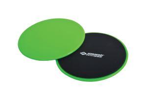 Schildkrot™ Fitness - Set van 2 Sliding Discs - Groen/Zwart